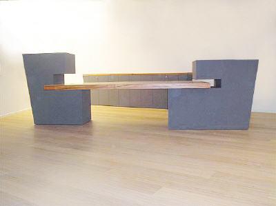 schreibtisch mit sideboard und garderobe. Black Bedroom Furniture Sets. Home Design Ideas